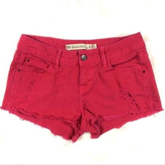 afb8144cb1 Zara Shorts | Hot Pink Fuchsia Cut Off Jean | Poshmark